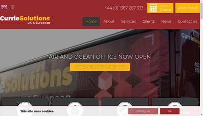 Site internet de Currie Solutions