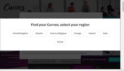 Site internet de Curves