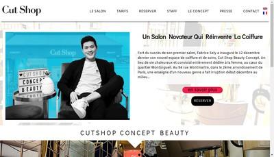 Site internet de Cut Shop