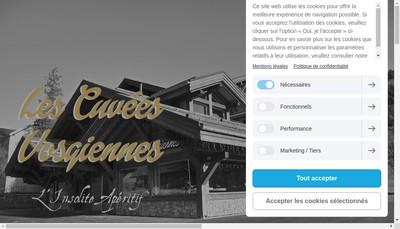 Site internet de SCEA les Cuvees Vosgiennes