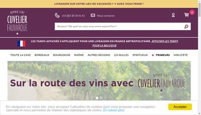 Site internet de Etablissements Cuvelier Fauvarque et Cie Maison Ans