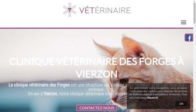 Site internet de Clinique Veterinaire des Forges