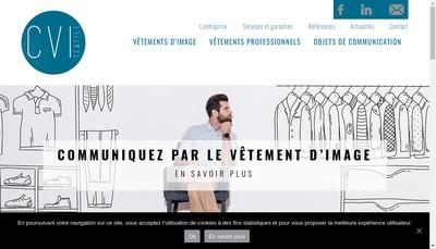 Site internet de Cvi Textile