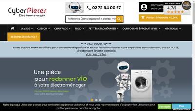 Site internet de Cyber Pieces