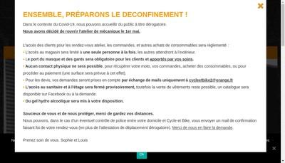 Site internet de Cycle et Bike 2