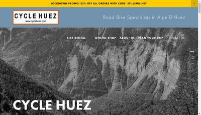 Site internet de Cycle Huez