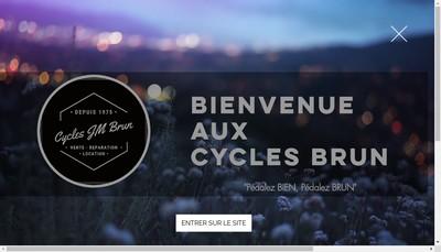 Site internet de Cycles Jm Brun