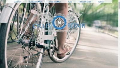 Site internet de Cycles N' Repair