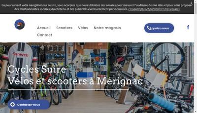 Site internet de Cycles Suire