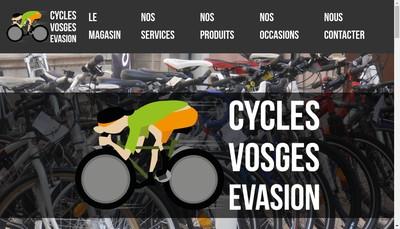 Site internet de EURL Cycles Vosges Evasion