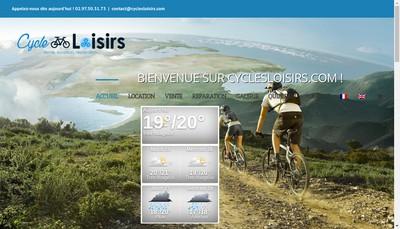 Site internet de Cycles Loisirs