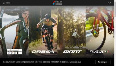 Site internet de Cycles Passion
