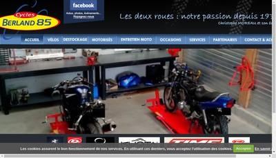 Site internet de Cycles Roland Berland