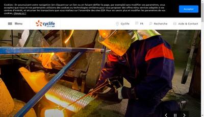 Site internet de Cyclife Holding