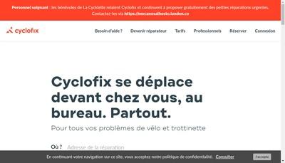 Site internet de Cyclofix