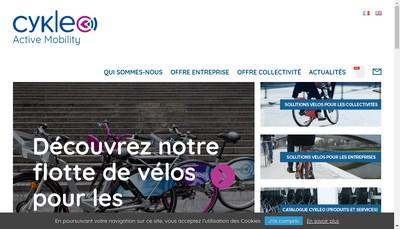 Site internet de Cykleo