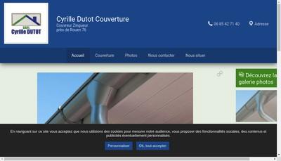Site internet de SARL Cyrille Dutot