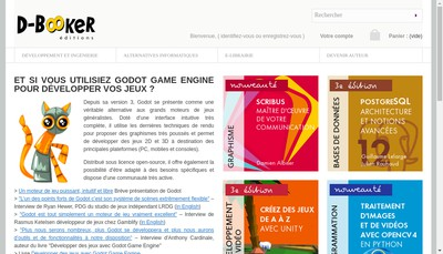 Site internet de Editions D-Booker