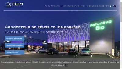 Site internet de D2M Immobilier