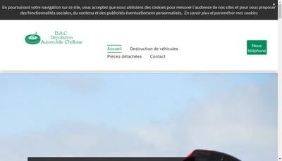 Site internet de Depollution Automobile Chelloise