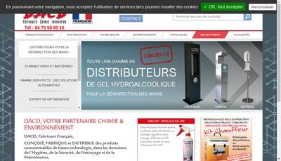 Site internet de Developpement Activites Chimiques Distribution - Dacd