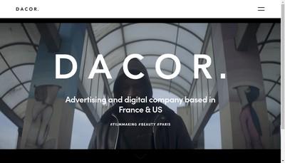 Site internet de Dacor Productions