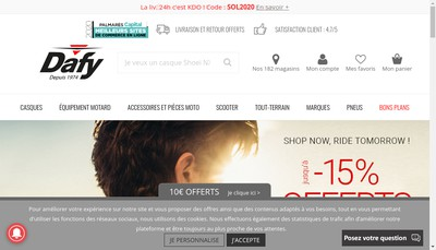 Site internet de Dafy Moto Compiegne