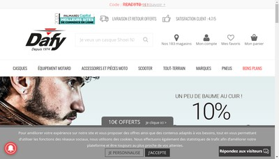 Site internet de Dafy Moto