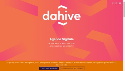Site internet de Agence digitale dahive