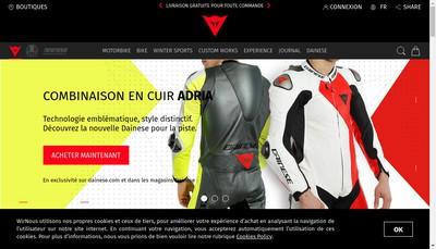 Site internet de Dainese France
