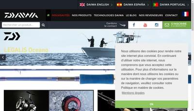 Site internet de Daiwa France