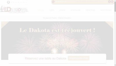 Site internet de Dakota Cafe