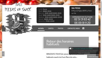 Site internet de Dali Pizza