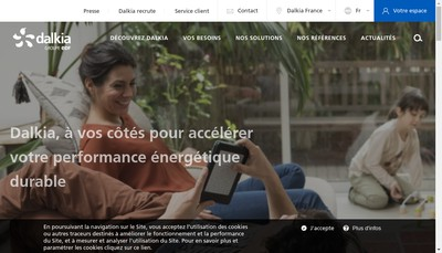 Site internet de Dalkia Biomasse Tours