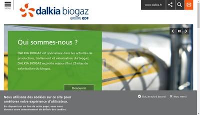 Site internet de Dalkia Biogaz Sainte Severe