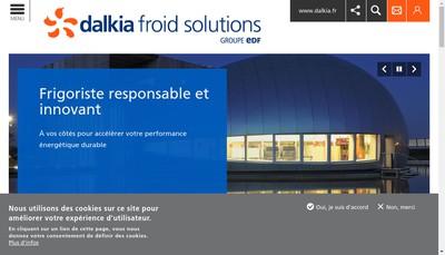 Site internet de Dalkia Froid Solutions