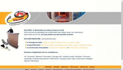 Site internet de Dalvard Industrie