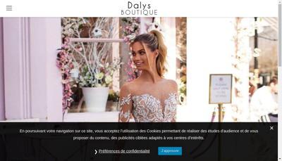 Site internet de Dalys Boutique