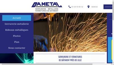 Site internet de Dametal