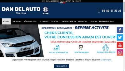 Site internet de Dan Bel Auto