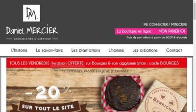 Site internet de Biscuiterie Chocolaterie Mercier