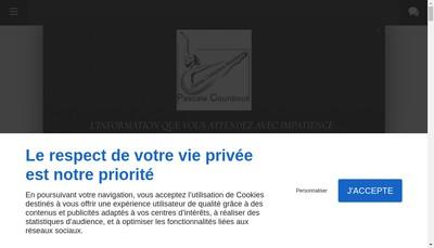 Site internet de Pascale Courdioux