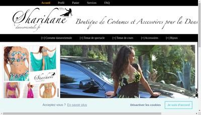 Site internet de Sharihane Boutique
