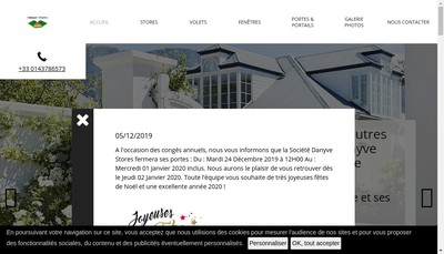 Site internet de Danyve Stores