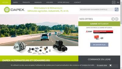 Site internet de Dapex