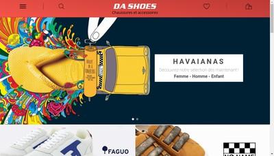 Site internet de Da Shoes