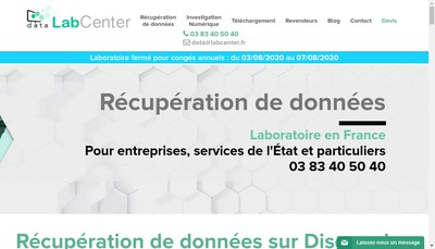 Site internet de Data Labcenter