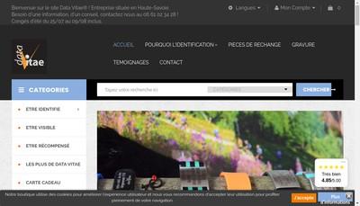 Site internet de Data Vitae