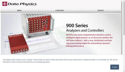 Site internet de Data Physics (France) SAS