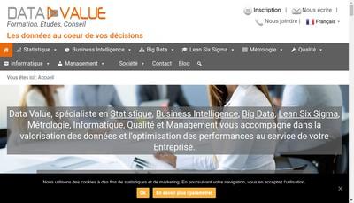 Site internet de Data Value